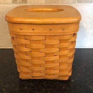 Longaberger Tissue basket